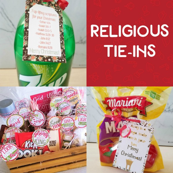 Love this Christmas gift ideas for friends with a religious tie in- such great ideas and FREE tags to print! #Christmas