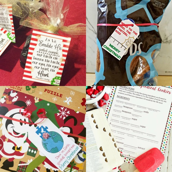 Such fun ideas for neighbor Christmas gifts! I love the messages with these tags too! #Christmas #LDS #freeprintables