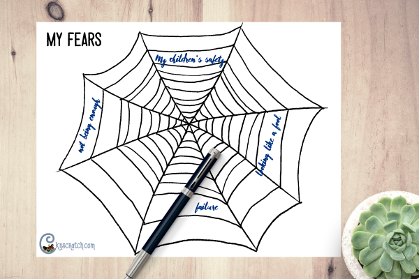 Spiderweb of fears- great handout to think about overcoming fears #GeneralConference #ElderRasband
