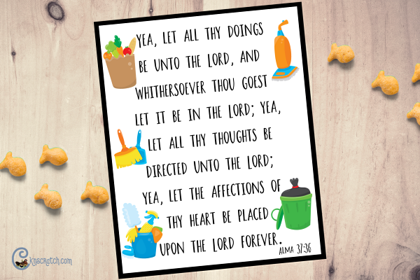 Great scripture to remember as you do all the daily chores #GeneralConference #ScripturePower #BookofMormon