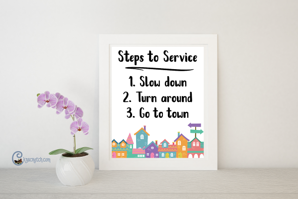 Love this Steps to Service! #LIGHTtheWORLD
