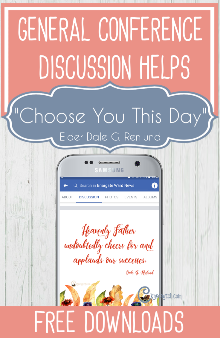 """Love having this site as a resource for teaching from the General Conference talks. This one is for Elder Dale G. Renlund's """"Choose You This Day"""" #GeneralConference #LatterdaySaints"""