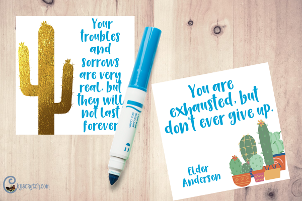 """Love these quote cards- would be fun to do with the Young Women too! Ideas for teaching """"Wounded"""" by Elder Neil A. Andersen #GeneralConference"""
