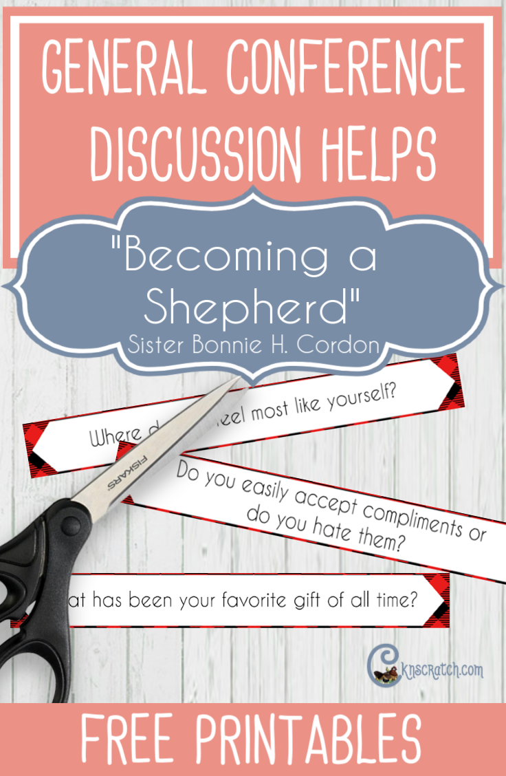 "Great discussion ideas and questions for teaching ""Becoming a Shepherd"" by Sister Bonnie H. Cordon (love the conversation questions) #GeneralConference #ministering"