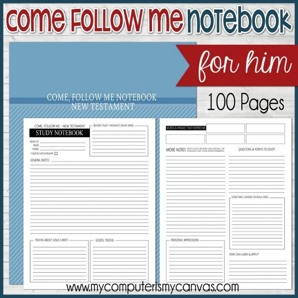 Come Follow Me Journal for Him