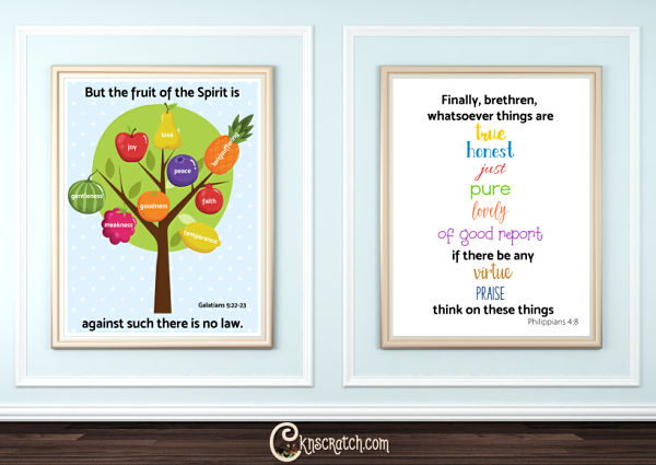 Scripture posters to go with the first week of Come, Follow Me for Individuals and Family #2019ComeFollowMe #LatterDaySaints