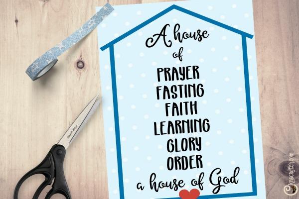 Build a house of prayer, fasting, faith, learning, glory, order, a house of God #2019ComeFollowMe #LatterdaySaints