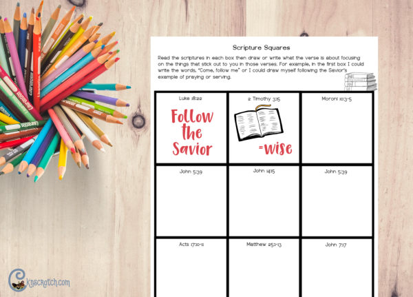 Love these scripture square pages- great for helping the kids understand the scriptures a little at a time #LatterdaySaints #2019ComeFollowMe
