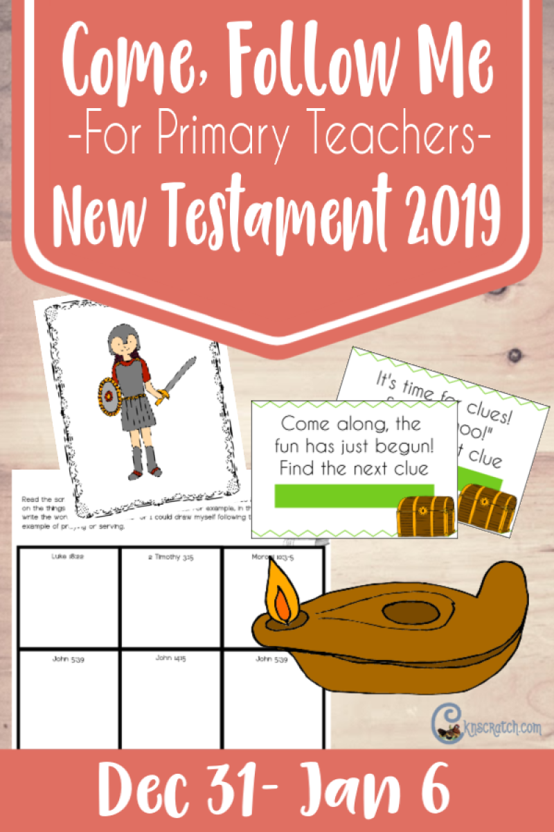 """Come, Follow Me resources for teaching Latter-day Saint Primary the New Testament. All kinds of great free printables. This ones if for """"We are Responsible for Our Own Learning"""" (Dec 31- Jan 6)"""