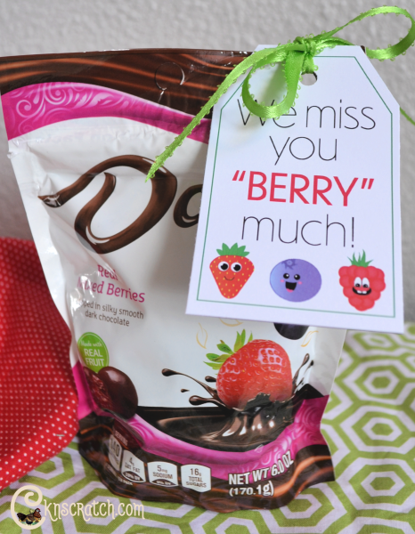 """Cute berry cards- these would be great for ministering to those that haven't been to church lately. I like that they say more than just """"miss you."""" #LatterdaySaint #Ministering"""
