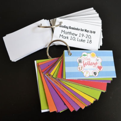 New Testament Come, Follow Me Scripture Cards from Red H Designs