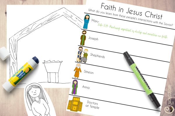 Nativity study sheets to go with Come, Follow Me for Individuals and Families New Testament