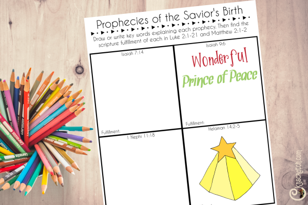 Great worksheet to study some of the prophecies of Christ's birth