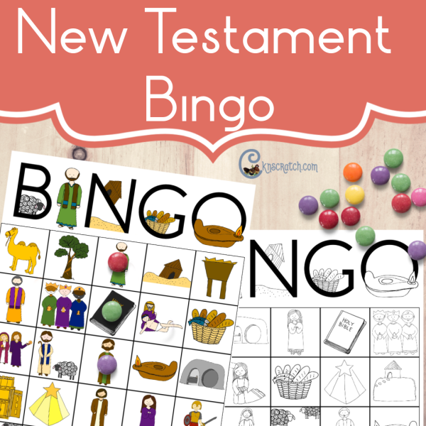 New Testament Bingo! I love that it comes in colored and black and white