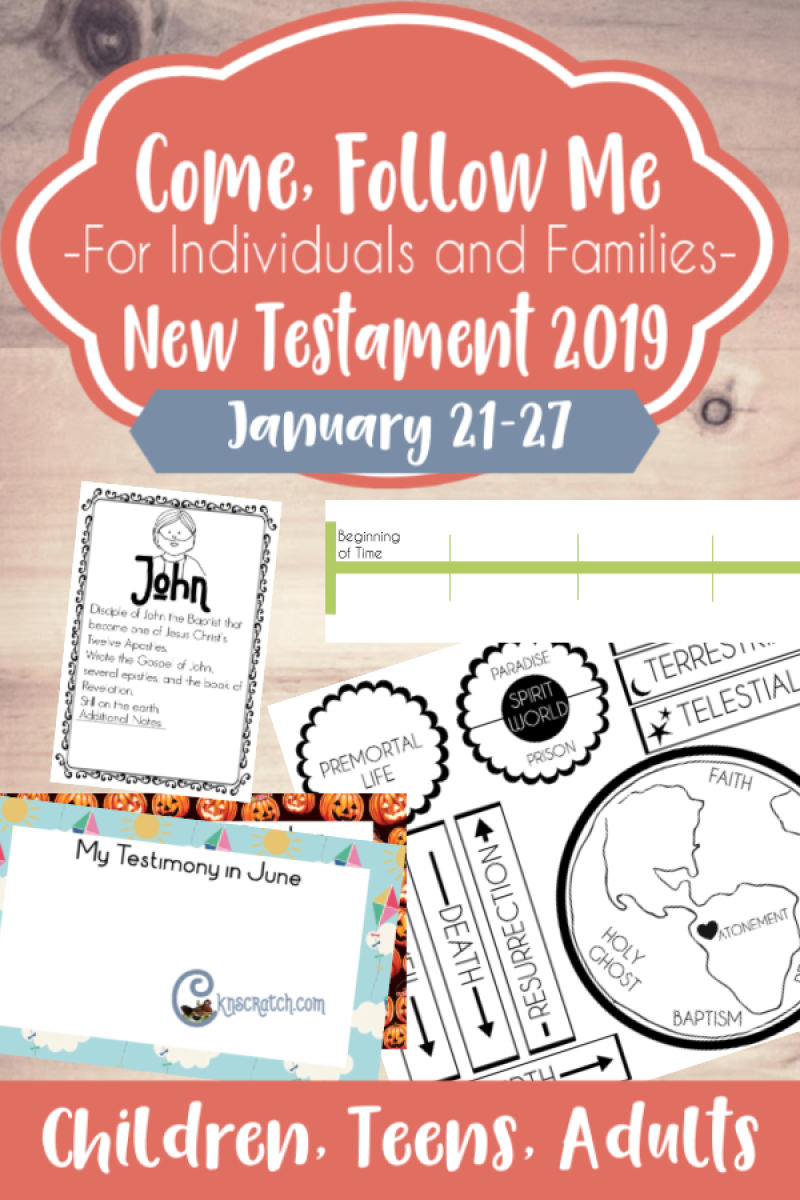 I love all these ideas and free handouts for teaching about the New Testament Jan 21-27 (John 1) #ComeFollowMe #teachlikeachicken #LDS