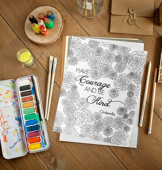 Love this quote and coloring page by Essence of Ink