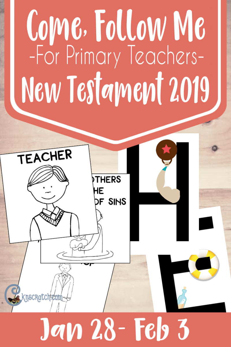 Great handouts, ideas, and more resources to help you teach from the Come, Follow Me for Primary Teachers manual (Jan 28-Feb 3) #teachlikeachicken
