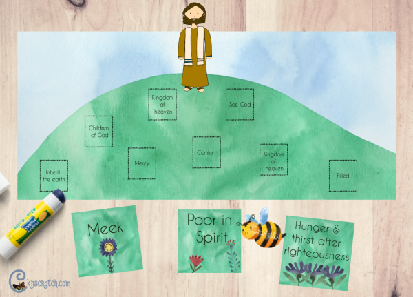 What a great visual way to teach about the Sermon on the Mount #teachlikeachicken