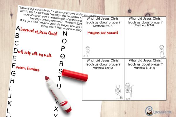 Study prayer as you discuss Matthew 6 (Feb 25- March 3) #teachlikeachicken