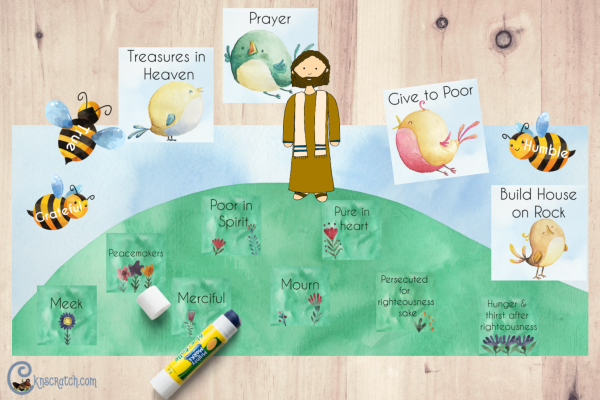More sermon the mount teachings- love the free handouts! #teachlikeachicken