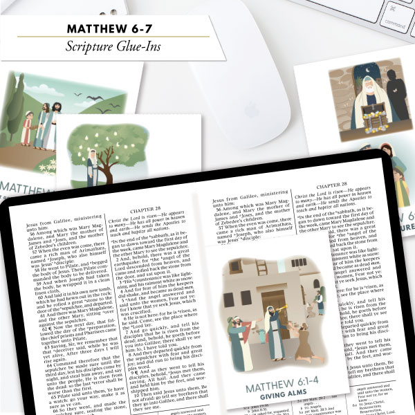 Scripture glue ins from The Red Headed Hostess