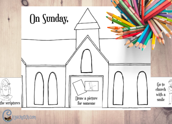 Great printable for discussing things we can and want to do on Sundays #teachlikeachicken