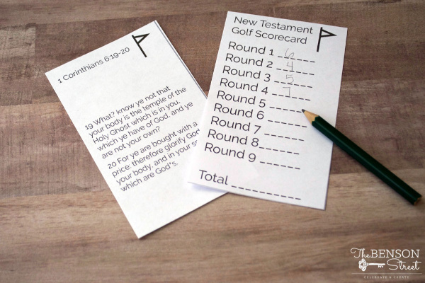 This is a fun idea! New Testament Golf- would make a great youth activity or family home evening #teachlikeachicken #thebensonstreet