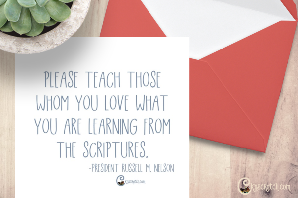 Share with your learn from the scriptures. #teachlikeachicken