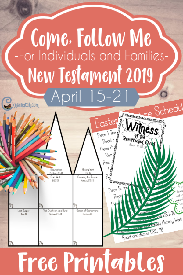 Great free handouts to use as you celebrate Easter! I love how you build your own temple! #teachlikeachicken #comefollowme #lds