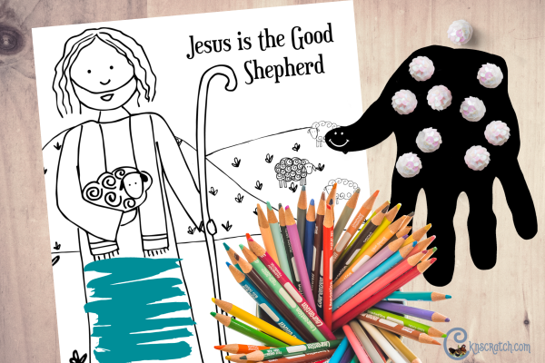 Love this Good Shepherd coloring page! Great for discussing with Come Follow Me #teachlikeachicken #LDS #comefollowme