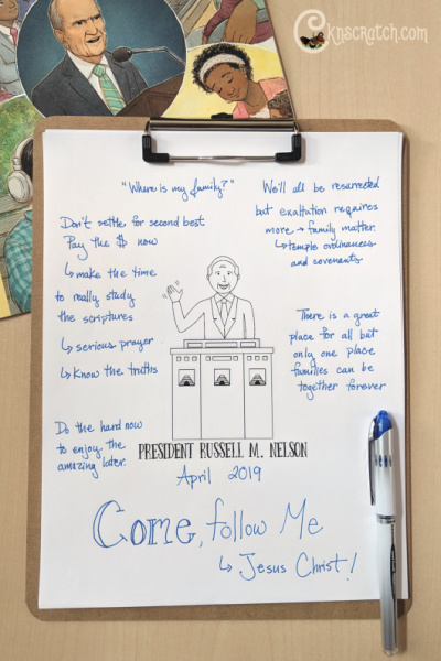 """Questions to ponder (great for lessons) for """"Come, Follow Me"""" by President Russell M. Nelson (April 2019) #teachlikeachicken #GeneralConference #ReliefSociety"""