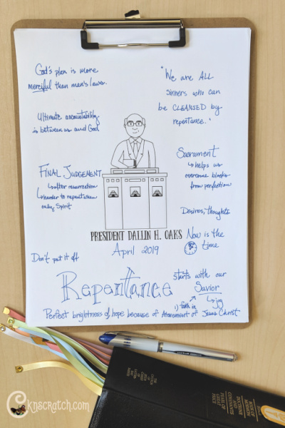 """Love these helpful questions to help discuss """"Cleansed by Repentance"""" by President Dallin H. Oaks #teachlikeachicken #GeneralConference #LDS"""