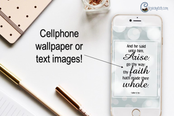 Love these free cellphone wallpapers with New Testament scriptures! Such a great idea. #teachlikeachicken #ComeFollowMe #NewTestament #LDS