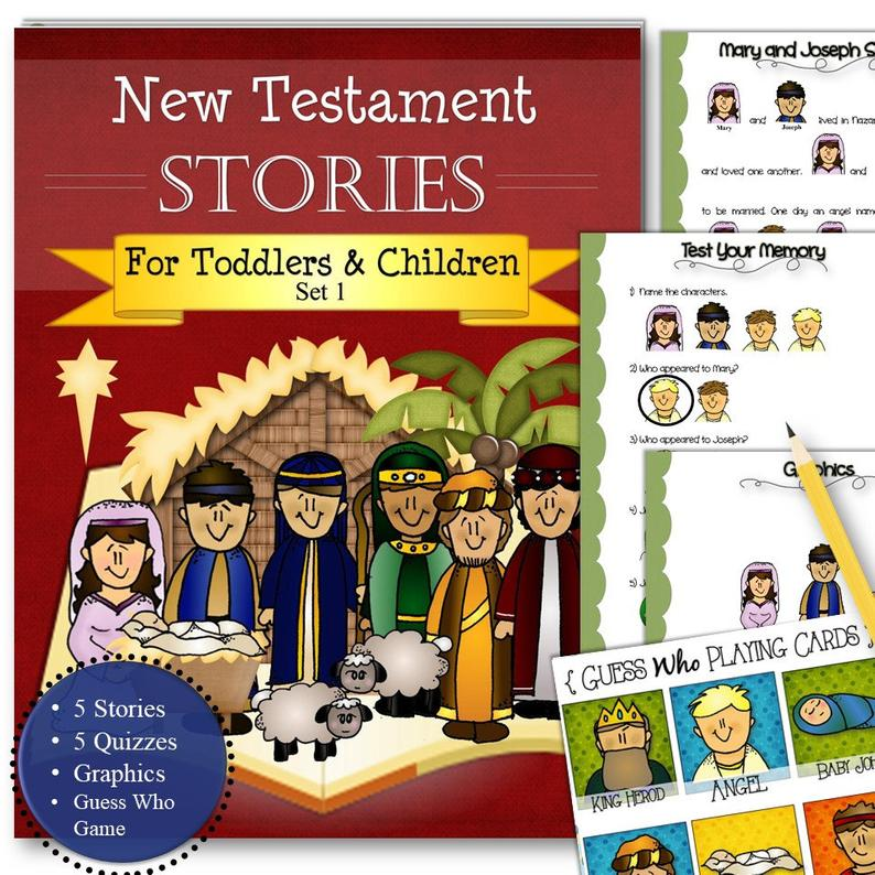 Great New Testament stories and activity pack from Time Savors