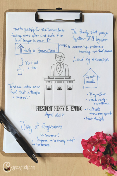 """Love these notes and questions to ponder as we study """"A Home Where the Spirit of the Lord Dwells"""" by President Henry B. Eyring #teachlikeachicken #GeneralConference #PresEyring"""