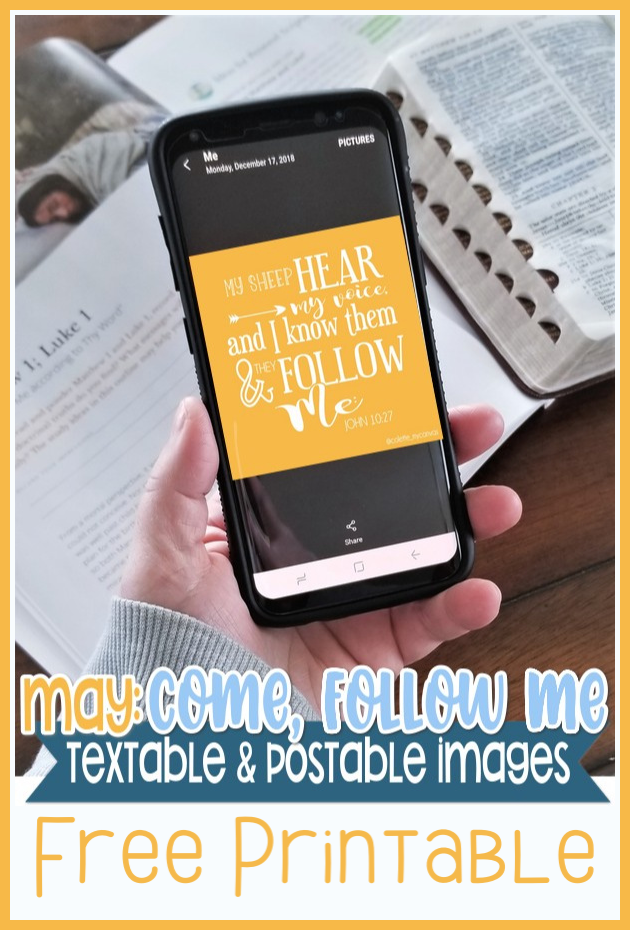 LOVE THESE! Come Follow Me textables for May. They are free and so great to text or share with your class #teachlikeachicken #LDS #ComeFollowMe
