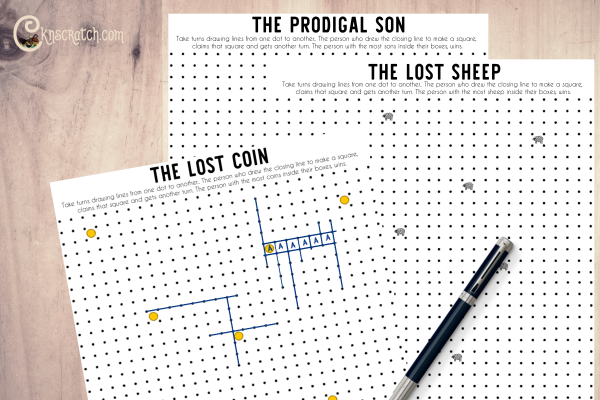 Fun dot game to play as you discuss the parables of the lost coin, lost sheep, and the prodigal son #teachlikeachicken #ComeFollowMe #LDS