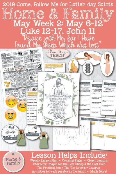 More great lesson ideas for the Come Follow Me lesson on the lost sheep from Love Pray Teach