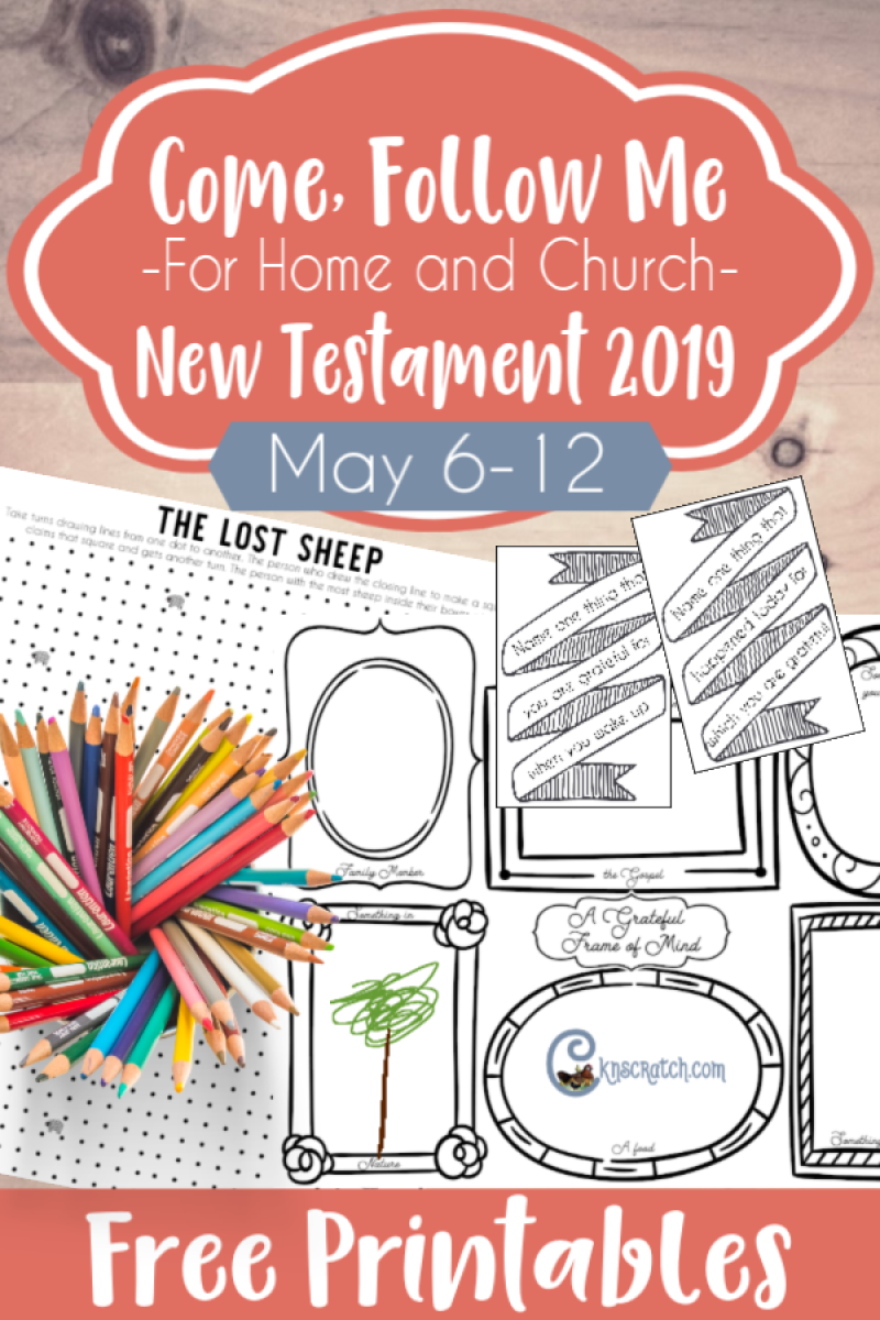 "LOVE, love this site!! Great helps for the Come Follow Me lessons- this one is for May 6-12 ""Rejoice with Me; for I Have Found My Sheep Which Was Lost"" Free printables, loads of ideas, study resources, and MORE!! #teachlikeachicken #LDS #ComeFollowMe #NewTestament"