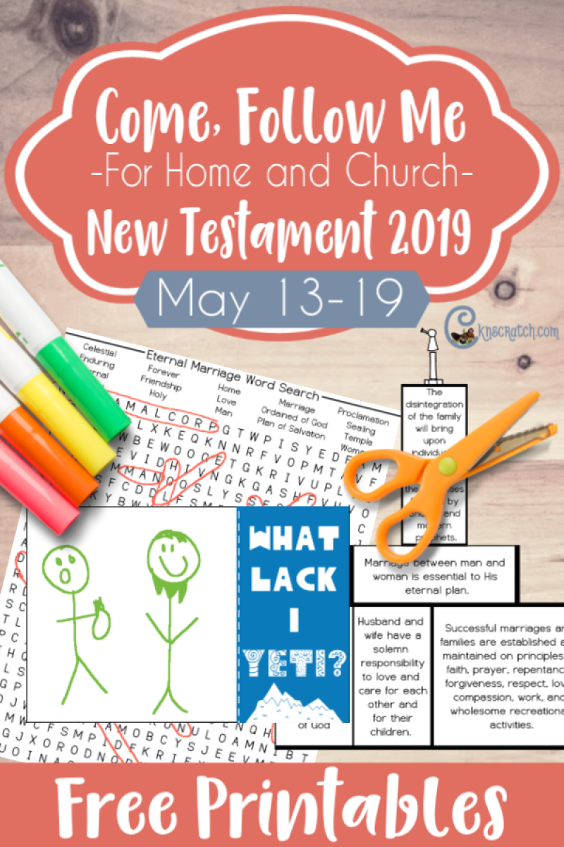 "Love these FREE handouts and ideas for teaching the Come Follow Me lessons every week. The yeti card- so funny! For Matthew 19-20; Mark 10; Luke 18 ""What Lack I Yet?"" (May 13-19) #teachlikeachicken #ComeFollowMe #LDS"