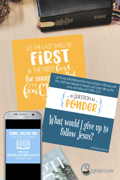 These Come Follow Me weekly textables are so great! You can send them to your family or class to ponder throughout the week and they are FREE! #teachlikeachicken #LDS #ComeFollowMe