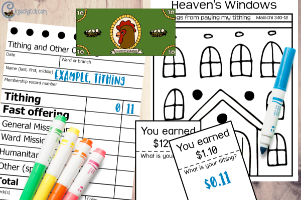 Wow! Lots of great printables to discuss tithing #teachlikeachicken #LDS #ComeFollowMe