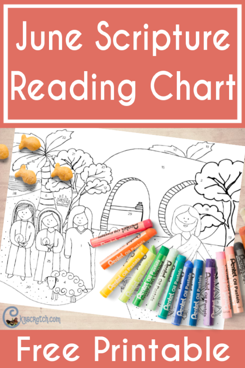Great free scripture reading charts- color in one part a day! Pictures go with the Come Follow Me June lessons. #teachlikeachicken #LDS #ComeFollowMe