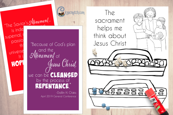 LOTS of great FREE printables and handouts to use as you teach about the Atonement of Jesus Christ and the Sacrament #teachlikeachicken #ComeFollowMe #LDS