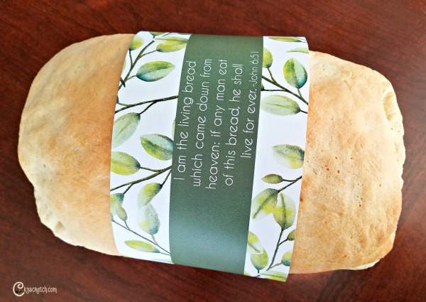 Love this living bread wrapper- perfect for a fresh loaf of bread and a lesson about the sacrament #teachlikeachicken #ComeFollowMe #LDS