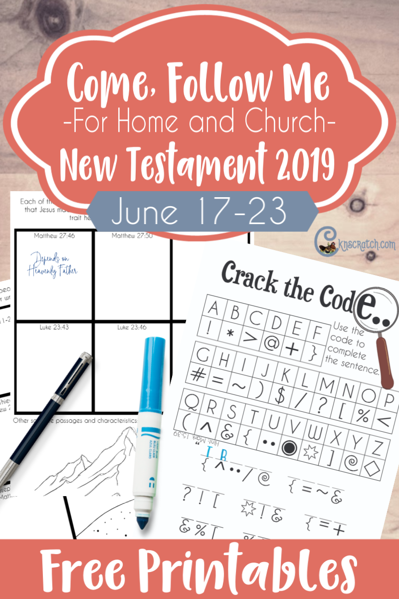 "Great free handouts and ideas to teach Matthew 27: Mark 15; Luke 23; John 19 ""It Is Finished"" (June 17-23) #teachlikeachicken #LDS #ComeFollowMe"
