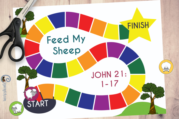 "Great ""Feed My Sheep"" board game and it's free. Love it! #teachlikeachicken #LDS #FeedmySheep #ComeFollowMe"