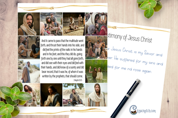 Great free printables to discuss being bold in our testimony of Jesus Christ and more in the Come Follow Me lessons #teachlikeachicken #LDS #ComeFollowMe