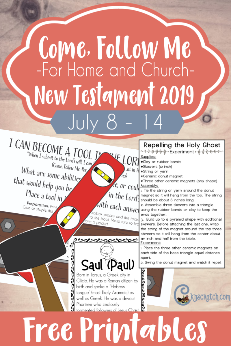 """Great ideas and free printables to help teach the Come Follow Me lesson Acts 6-9 """"What Wilt Thou Have Me to Do?"""" (July 8-14) #teachlikeachicken #LDS #ComeFollowMe"""