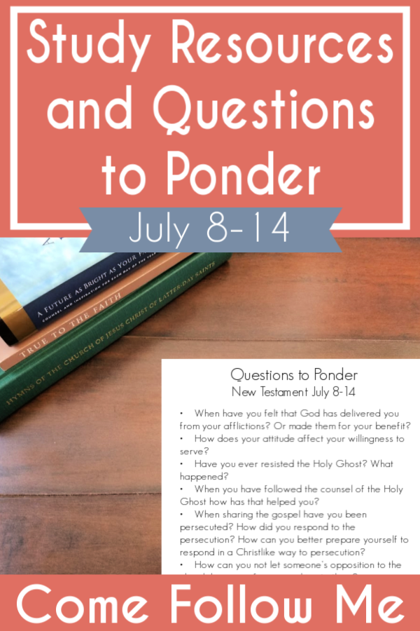 """Questions to ponder and study resources for Come Follow Me lesson Acts 6-9 """"What Wilt Thou Have Me to Do?"""" (July 8-14) #teachlikeachicken #LDS #ComeFollowMe"""